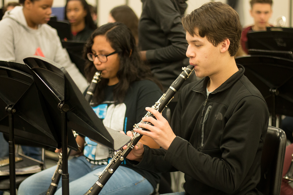 Despite being one of the youngest members in band, freshman David Bell auditions for Wind Ensemble using All-Region music. He ended up placing first, meaning he captured first chair of the section. Auditions were held in December.