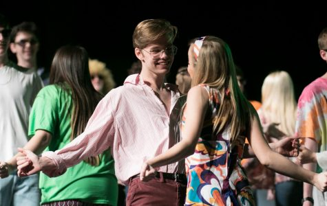 Seniors Colton Johnson and Laiken McKay dance together in the senior dance,