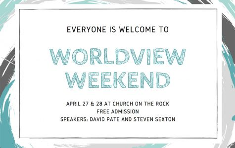 Worldview Weekend is a Christian conference held at Church on the Rock, and is geared toward helping believers become more mature in their faith. Admission is free, and doors open on April 27 at 7 p.m. Photo from Churchontherock.org Graphic by Langley Leverett