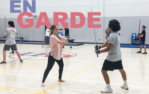Theater students practice combat exercises at the University of Houston. The workshop was held during Labor Day weekend.