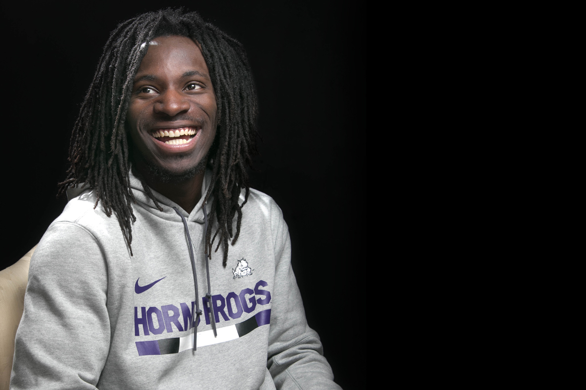 Former Texas High football player Tevailance Hunt begins his football career with the Texas Christian University Horned Frogs.