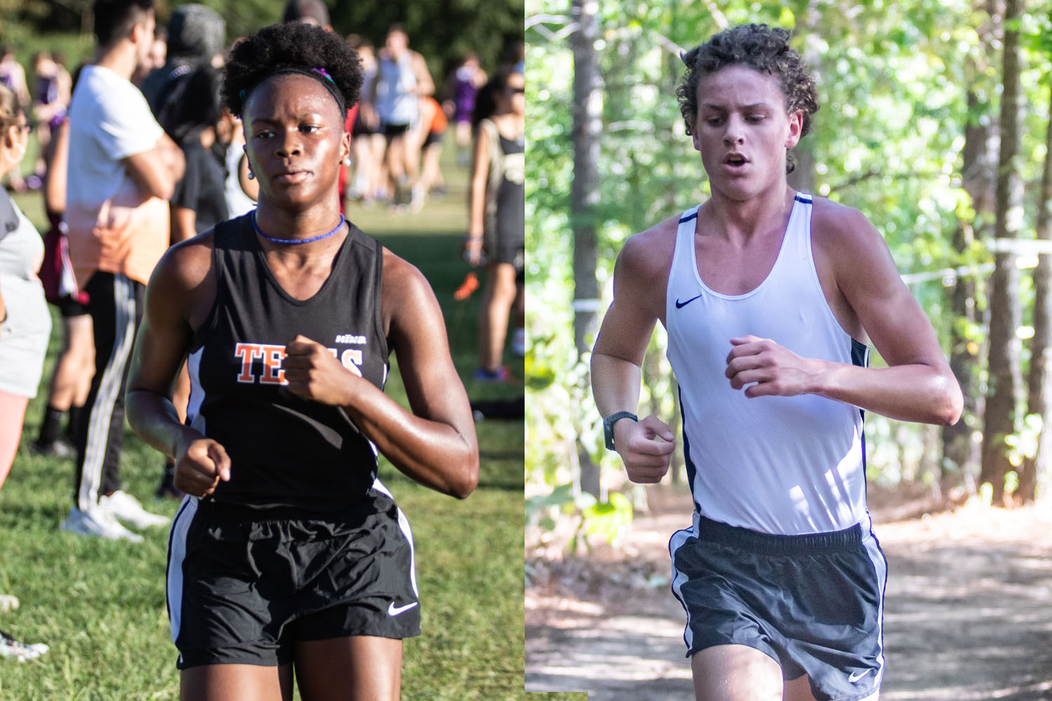 Sophomore Fezeka Barnes and Junior Owen Likins advance to the regional meet. Barnes placed in ninth and Likins first in the 15-5A district meet.