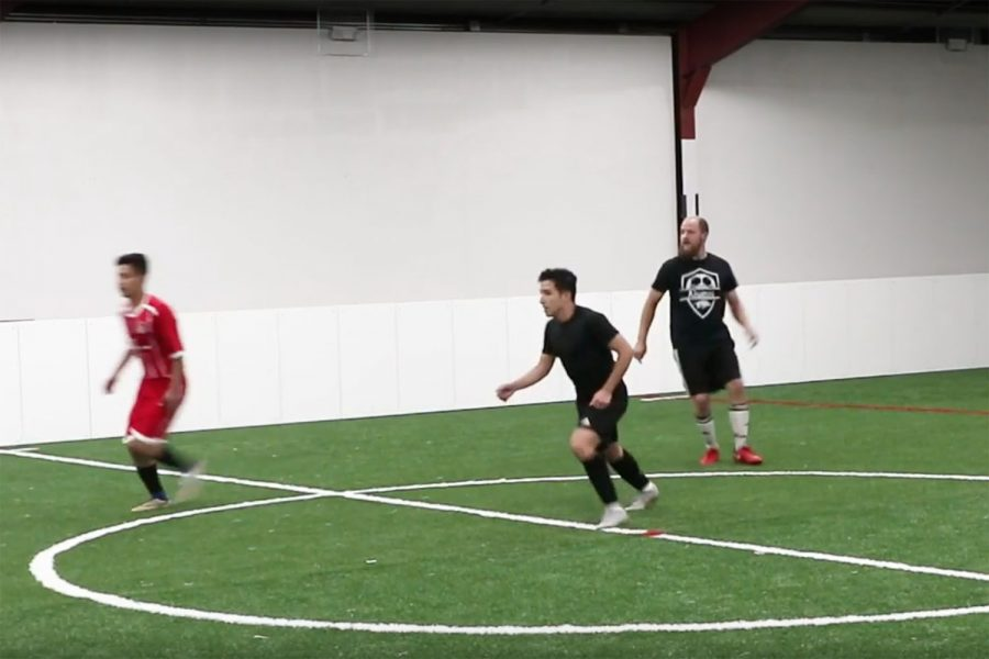 Local soccer players try out new indoor soccer field. 5aside is the first public, indoor soccer field in Texarkana.