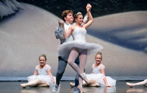 """Dancers featured in """"Thr Nutcracker"""" practice during dress rehearsal. Participants practiced for months for the show."""