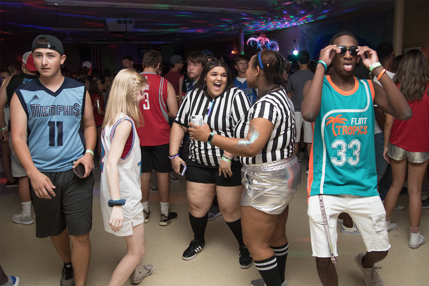Texas High students reunite before the school year at summer Space Jam. Money raised from the dance was donated to Student Council. The dance was not school sponsored.