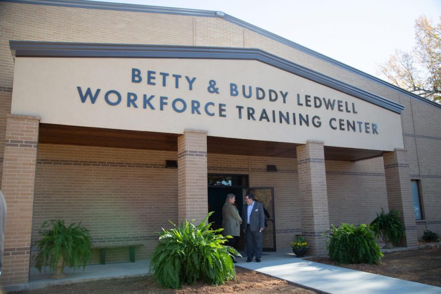 The Betty & Buddy Ledwell  Workforce Training Center is the newest addition to the Texarkana College campus. The building opened on Nov. 27 during an opening ceremony.