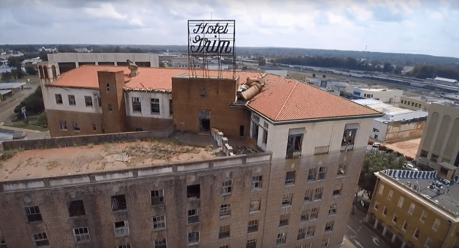 Downtown Texarkana is currently undergoing revitalization. One of those projects is the Grimm Hotel which will be converted into apartment units.