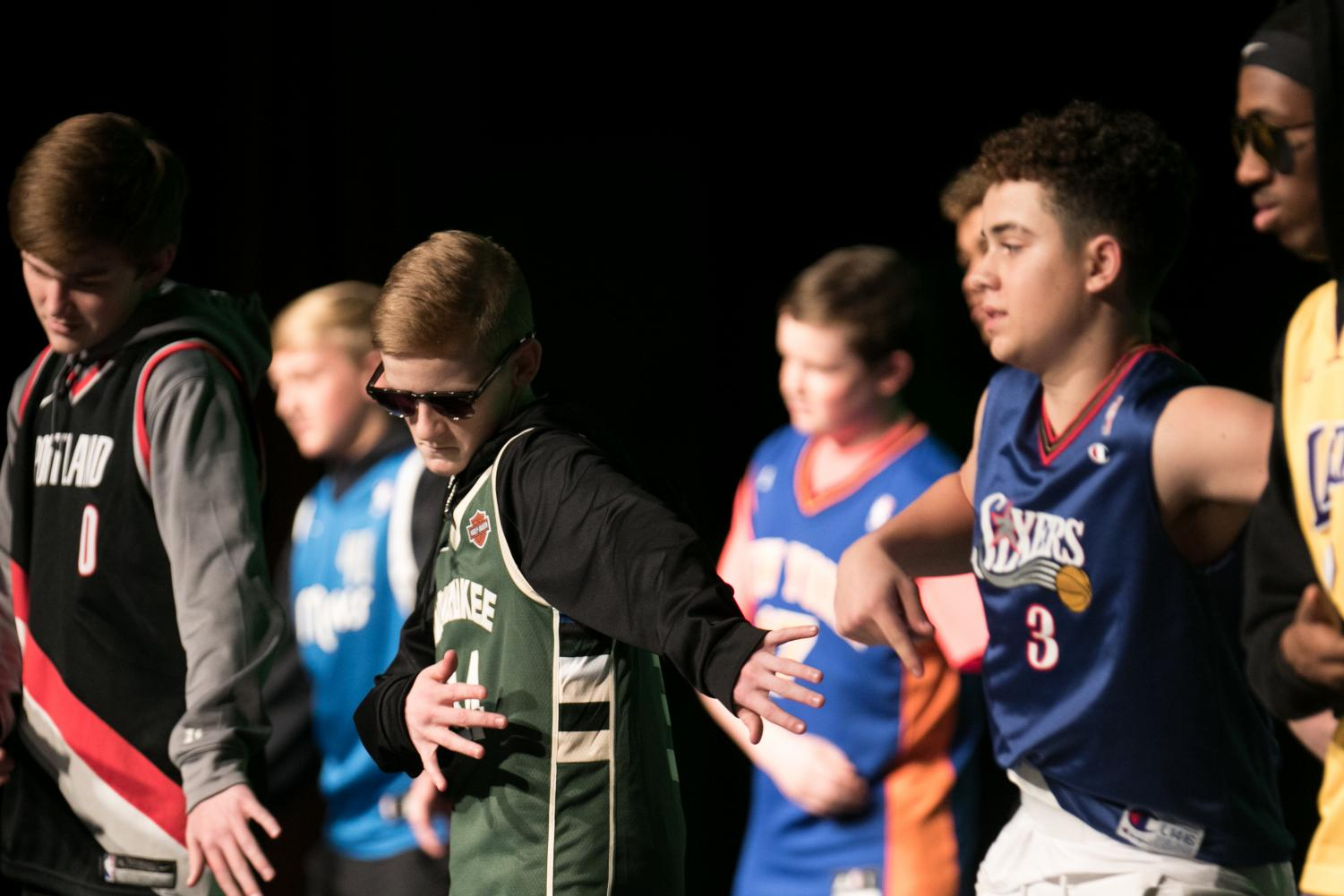 Sophomore Trey Lavender performs in the freshman boys dance in last years Dinner Theater. StuCo will host the 10th annual event this Sunday.