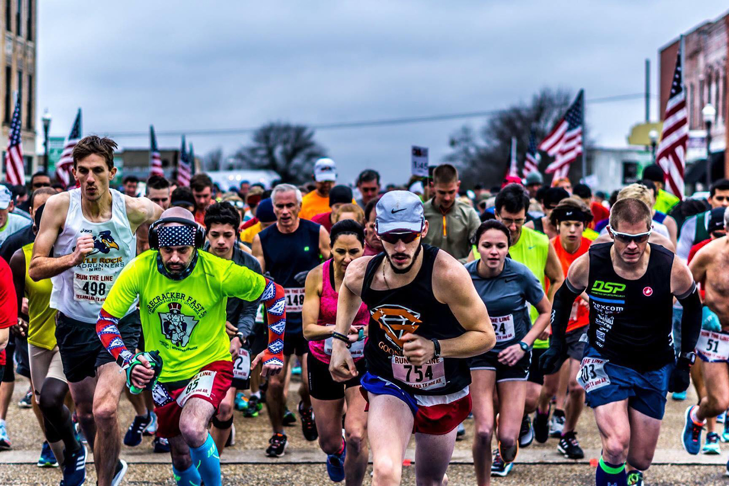 Submitted Photo - Local runners participate in Run the Line held on State Line. The annual race is anticipated to be the largest event yet.