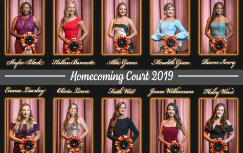 Presentation of homecoming court 2019
