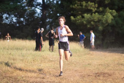 Senior Owen Likins competes in a cross country meet in Lindale, Texas. Likins later qualified for the UIL 5A State Championship.
