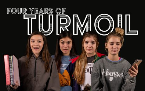 Photo Illustration. Students from each grade level represent their respective era of the high school experience and the emotions that accompany it.