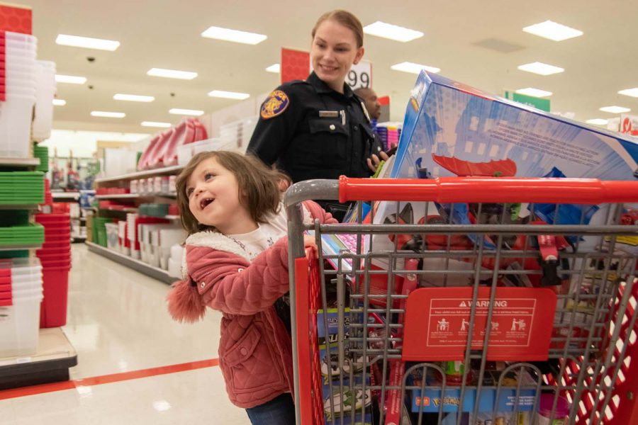 Shop with a Cop and Firefighter