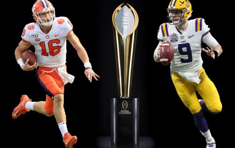 The Louisiana State University Tigers face the Clemson University Tigers in the NCAA Football National Championship. The game will air on ESPN at 7 p.m.