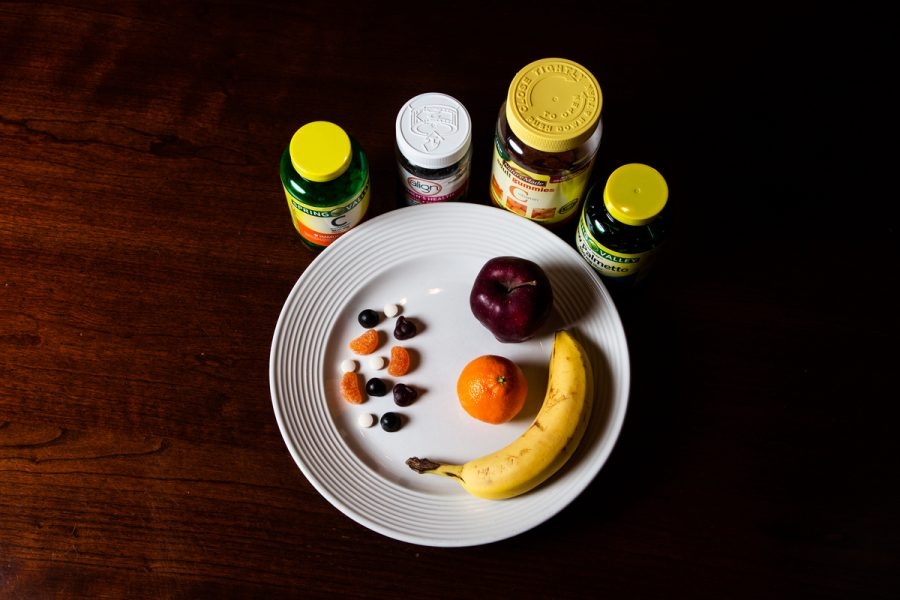 Taking vitamins or supplements should not replace eating a healthy diet.