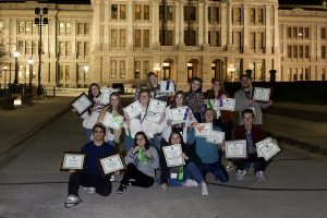 Submitted photo. Texas High Photography Staff poses with their awards after the ATPI 2020 Winter Conference.