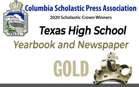 Graphic by Kaitlyn Rogers. The Tiger Times Newspaper and Tiger Yearbook both received Gold Crowns from the Columbia Scholastic Press Association.
