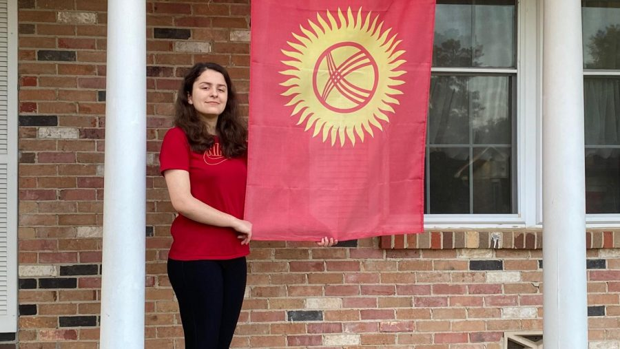 Junior Tatiana Shishenina, a foreign exchange student from Kyrgyzstan, will return home in May.