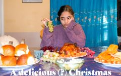 I tried every food available to me at a typical Christmas dinner.