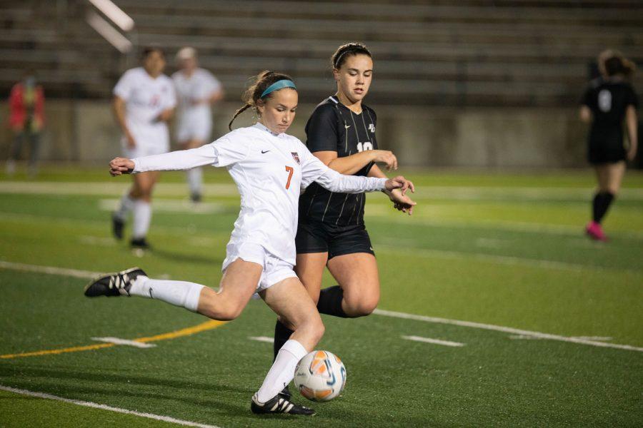 THS v. Pleasant Grove girls varsity soccer