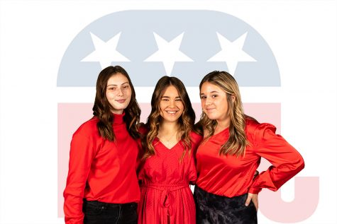Sophomore Olivia Huckabee, senior Graci Henard and sophomore Macy Maynard remain loyal to the Republican Party because of its stance on issues, such as gun control, abortion and biased media.