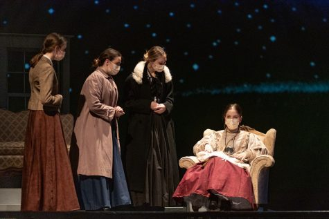 "Cast members Maddie Frost, Lia Graham, Beth Dietze, and Anabeth Icenhower preform ""Silent Sky"" in their UIL One Act Play competition. The show advanced to the 5A Region II on March 24, 2021 in their home theater."