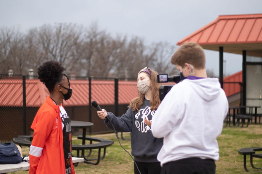 Tiger Vision students interview senior Fezeka Barnes about the Bacon Fry. Student media did coverage of the event.