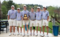 The boys golf team stands together after placing second in Regionals. After they won, they are to compete in State in Austin on May 17-18.
