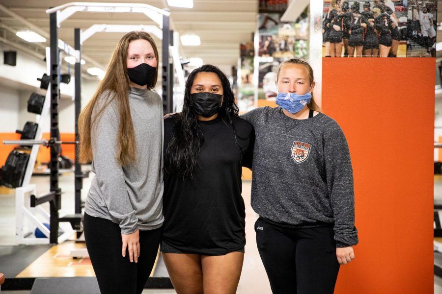 Two seniors and one freshman made school history when they formed the first girls powerlifting team. Seniors Mariza Paez and Mollie Johnson and freshman Makenley Chandler advanced from district to regionals. Paez went on to the state meet where she placed fifth, becoming the first girl to do so.