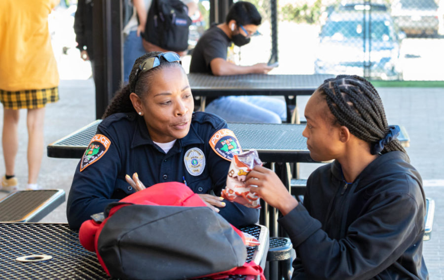 School police officers work to ensure the safety of all Texas High students